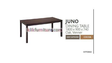 meja makan kayu juno vittorio