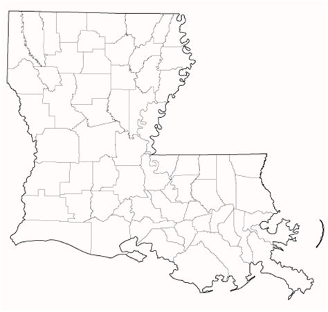 louisiana map blank census of agriculture 2007 census publications state