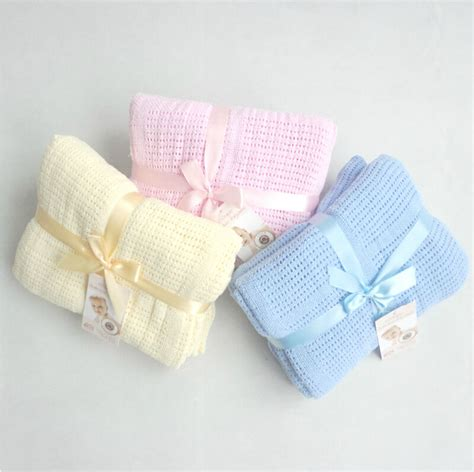 Cotton Crib Blanket by New 100 Cotton Baby Knitted Breathable Props Blanket
