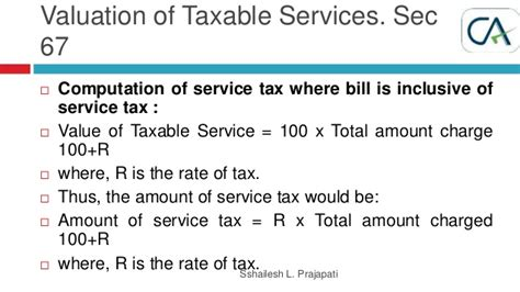 section of service tax service tax training jan 2015