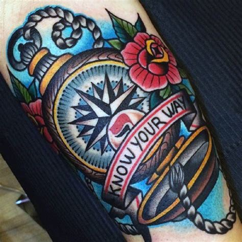 compass tattoo american traditional 40 traditional compass tattoo designs for men old school