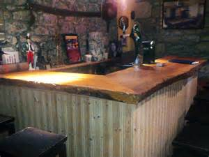 Rustic Bar Top by Basement Bar Ideas And Designs Pictures Options Tips