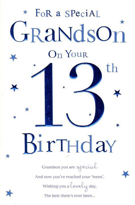 card grandson grandson 13th birthday birthday card ebay
