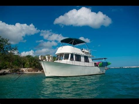 living on a boat for the summer our trawler is our home