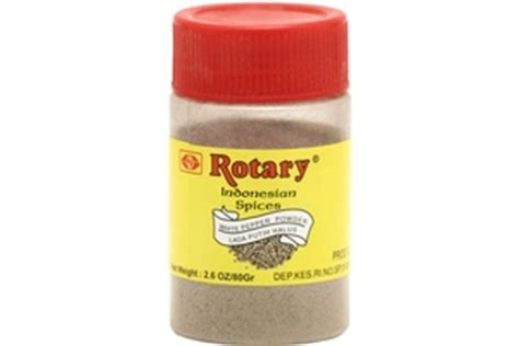 rotary bubuk lada putih white pepper powder oz