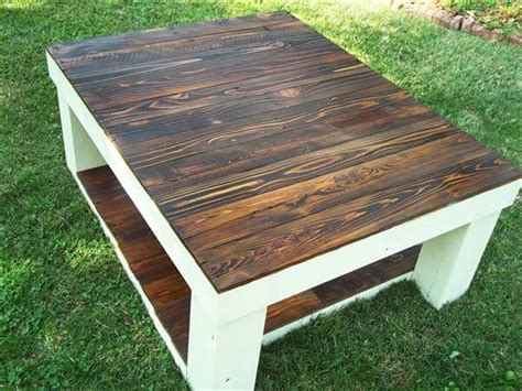 Pallet Wood Coffee Table Reclaimed Pallet Wood Coffee Table 101 Pallets
