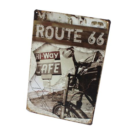 Route 66 Wall Decor by Route 66 Tin Sign Retro Vintage Metal Plaque Bar Pub Wall