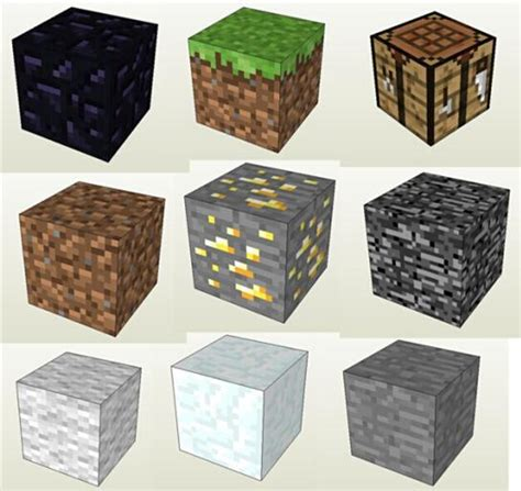 Minecraft Papercraft Grass Block - minecraft grass blocks paper craft minecraft jazwares