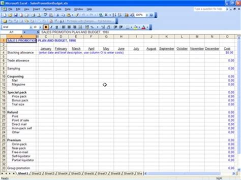 sales department budget template pin sales budget on