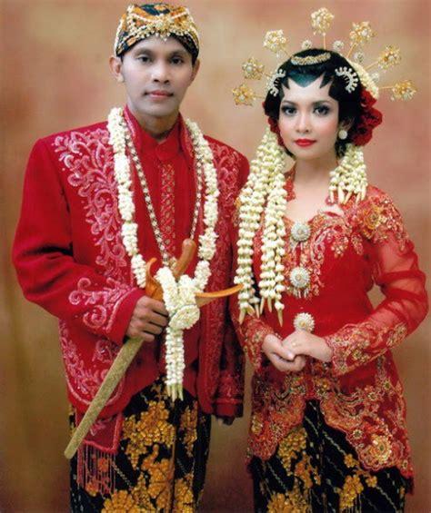 Baju Adat Jawa Warna Merah ciri khas baju pengantin adat jawa