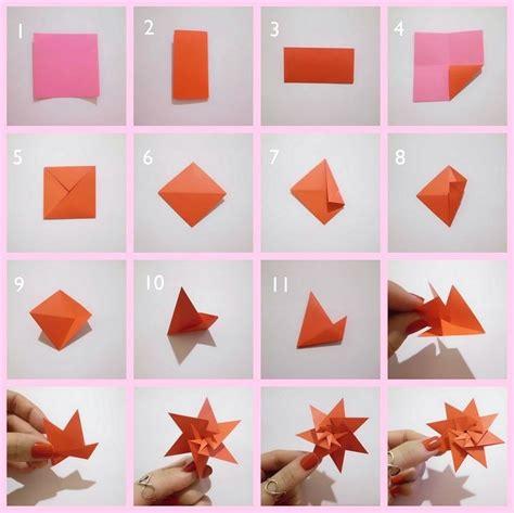 cara membuat origami bunga dari kertas warna cara membuat hiasan dinding kamar sendiri dari kertas
