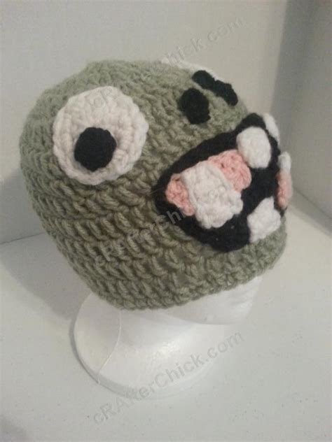 crochet pattern zombie plants vs zombies zombie character crochet hat the yarn
