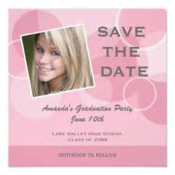 pink photo graduation save the date 5 25x5 25 square paper invitation card zazzle