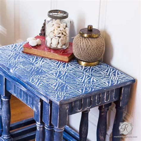 tribal pattern furniture african tribal batik allover wall stencil royal design