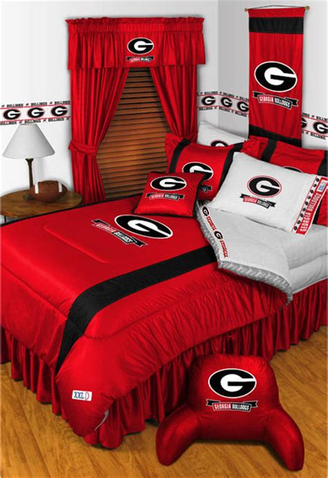 georgia bulldog bedroom ideas ncaa georgia bulldogs bedding and room decorations