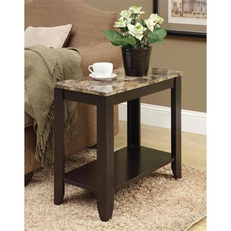Marble End Tables Living Room by Accent End Table In Marble And Cappuccino I 3114