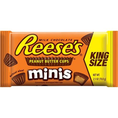 Minis Chocolate 80g reese s minis peanut butter cups king size hy vee