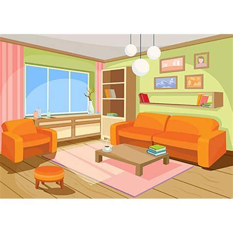 vector illustration cozy cartoon interior home room interior vector room png vector