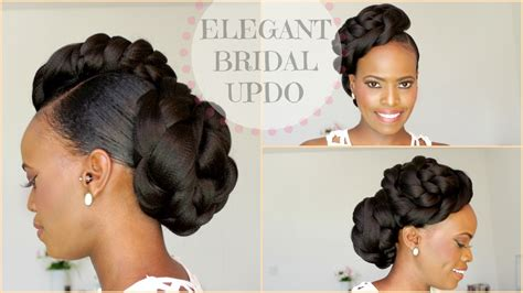 natural hair updo bridal inspired sisiyemmie natural hair bridal style updo melissa erial picsy buzz