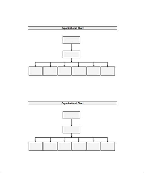 organizational chart template 13 download free