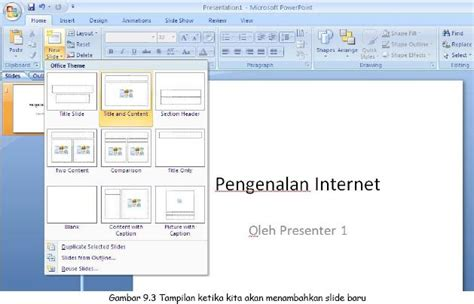 jenis layout yang terdapat pada office theme microsoft power point hernadiana