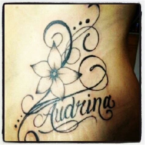 flower tattoo designs with names new tattoo flower with my daughters name tattoo