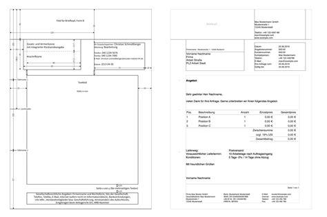 Offizieller Brief Form pages vorlage angebot numbersvorlagen de