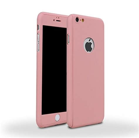 Iphone 8 Volcom Pink Hardcase iphone 6 plus 6s plus pink front and back cover with tempered glass