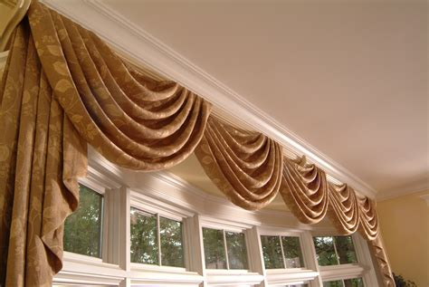 curtain and drapery custom valances by galaxy draperies los angeles ca