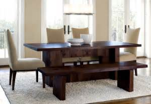 Modern Dining Room Table With Bench Stratton Rectangular Dining Set With Bench Modern Dining Tables By Clubfurniture