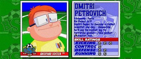 Backyard Baseball Dmitri Petrovich Dmitri Petrovykh Name