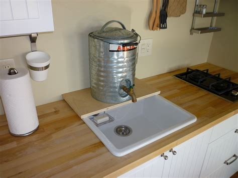 temporary kitchen sink kitchen with temporary plumbing tin can cabin