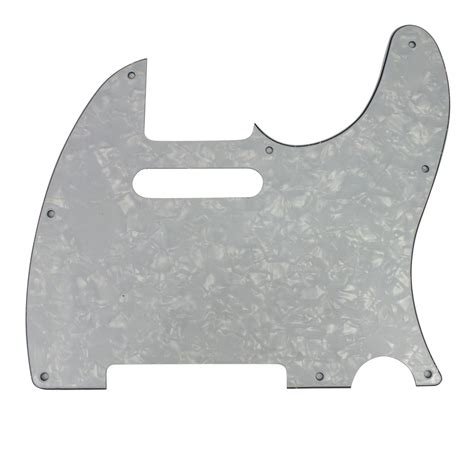 diy tele style electric guitar guard scratch plate for telecaster 8 holes ebay