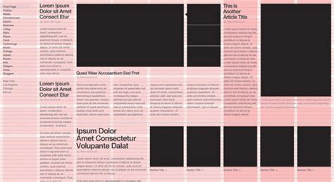 web page design grid layout chivonne williams the grid structure