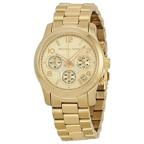 michael kors chronograph gold tone mk5055
