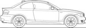 2008 bmw 1 series e82 coupe blueprints free outlines