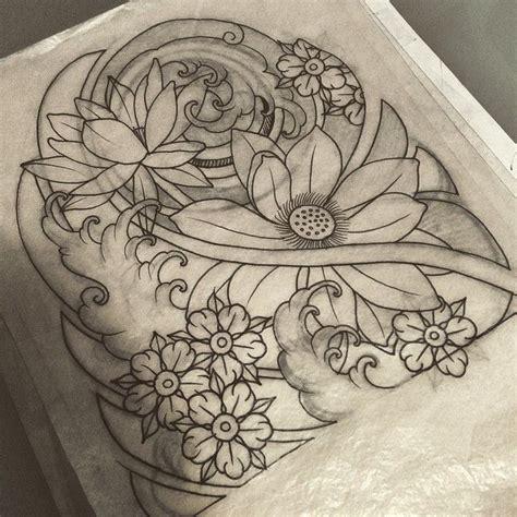 tattoo designs japanese flowers wonderful stencil of japanese flower tattoo golfian com