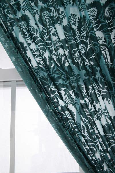 velvet burnout curtains damask velvet burnout curtain everything turquoise