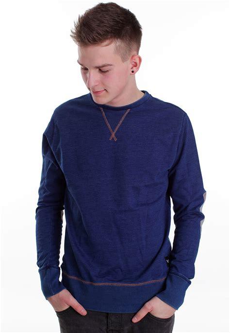 Blue Sweater rvca wex ii denim blue sweater impericon worldwide