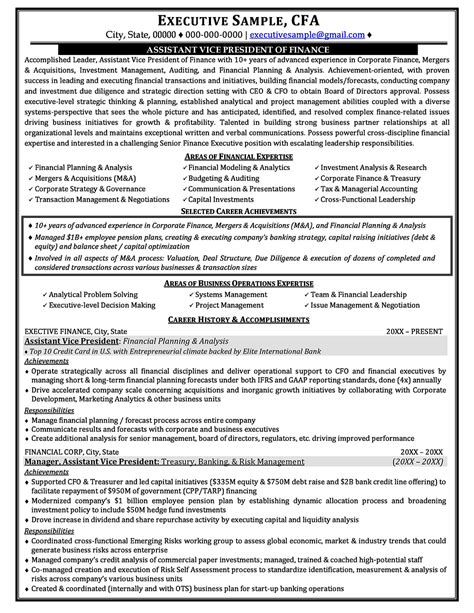 Executive Resume Exles by Sle Resume Corporate Executive