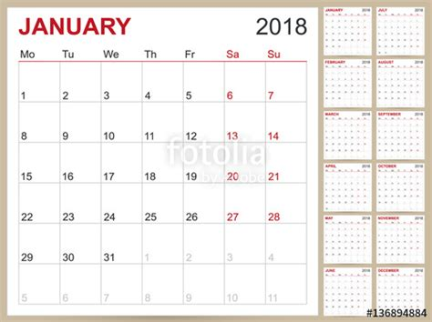 2018 12 Month Calendar Quot Calendar 2018 Calendar Template For Year 2018