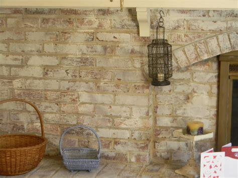 chalk paint on brick whitewashed brick the painted drawerthe painted drawer