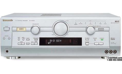 panasonic sa he100 silver home theater receiver with