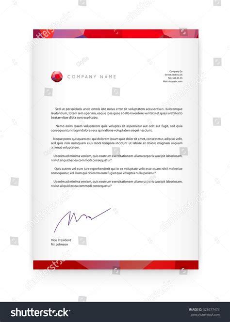 Business Letter Elements visual identity letter logo elements polygonal stock