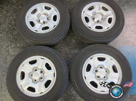 Toyota Tacoma Factory Wheels Four 05 12 Toyota Tacoma Factory 15 Steel Wheels Tires Oem