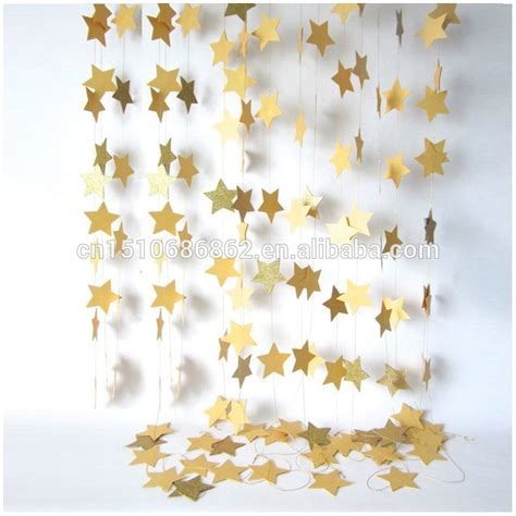 Garland With Paper - hanging golden paper garlands 4m colorful home