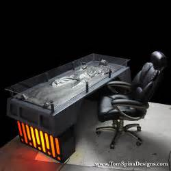 Star Wars Desk Han Solo Frozen In Carbonite Desk The Green Head