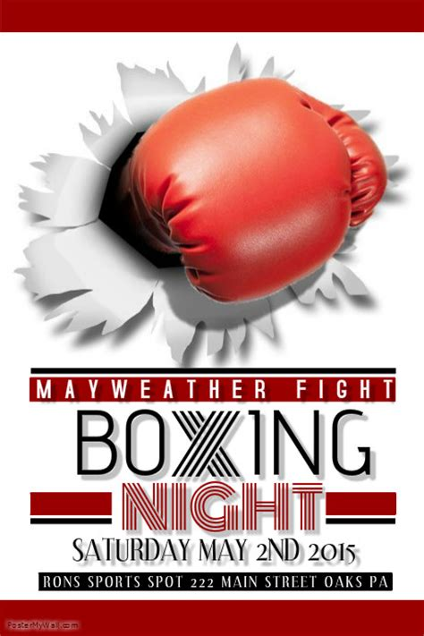 boxing poster template free boxing flyer postermywall