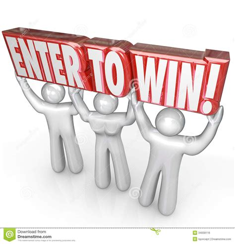 participate in contest enter to win lifting words contest winner royalty free stock image image 34058116