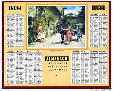 Calendrier 2018 Almanach Calendrier Almanach Des Postes 1962 Oberthur Plaisirs
